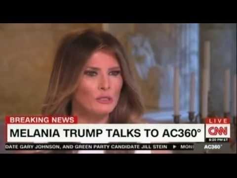 CNN Anderson Cooper interview Melania Trump p2
