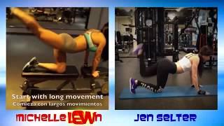 Repeat youtube video Jen Selter Vs Michelle Lewin  Workout Battle Video , jen selter workout