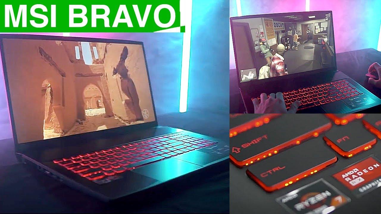Мощный игровой ноутбук 2020 [MSI Bravo] на базе AMD