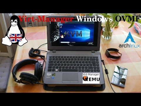 Arch Linux | Virt-Manager - Windows 10 KVM with OVMF (English) - YouTube