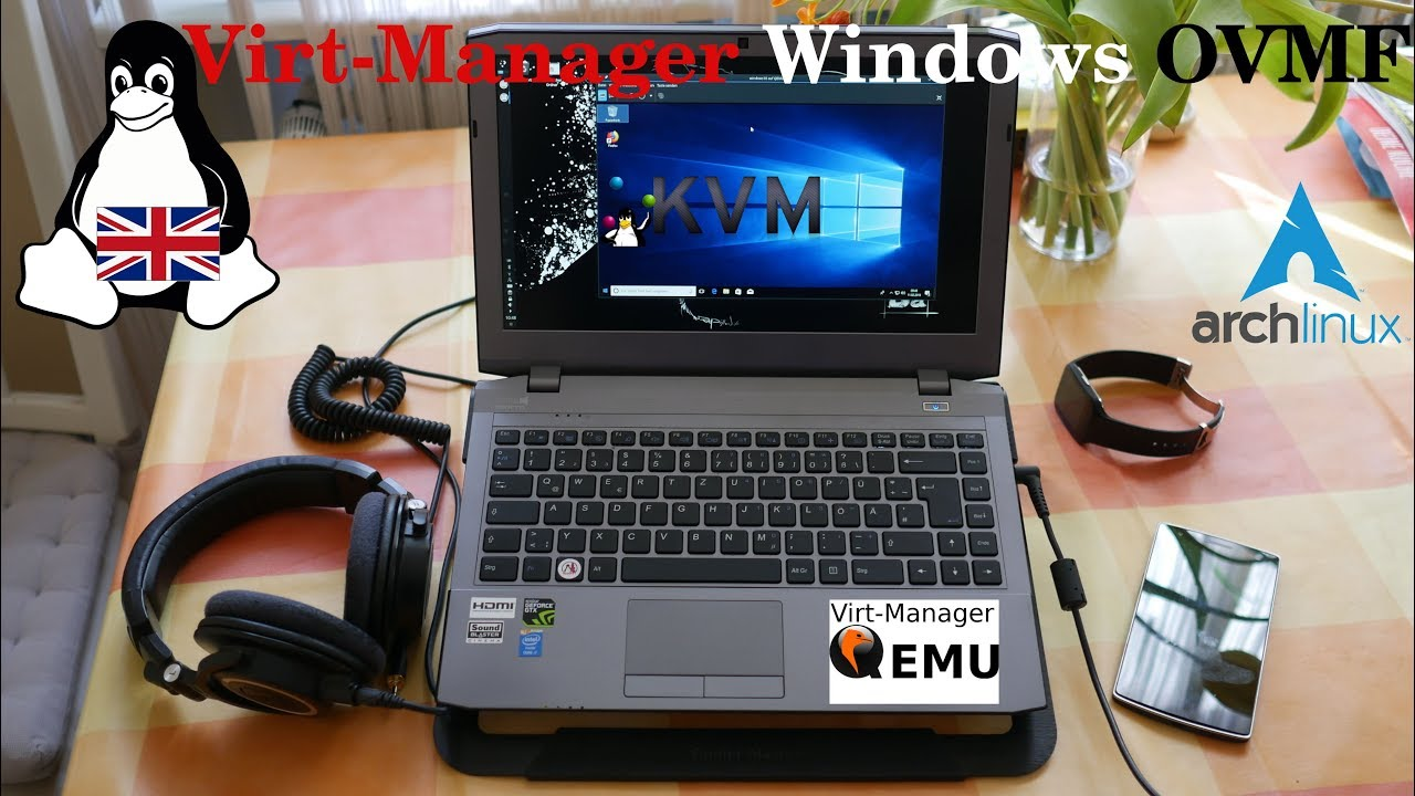 Arch Linux | Virt-Manager - Windows 10 KVM with OVMF (English)