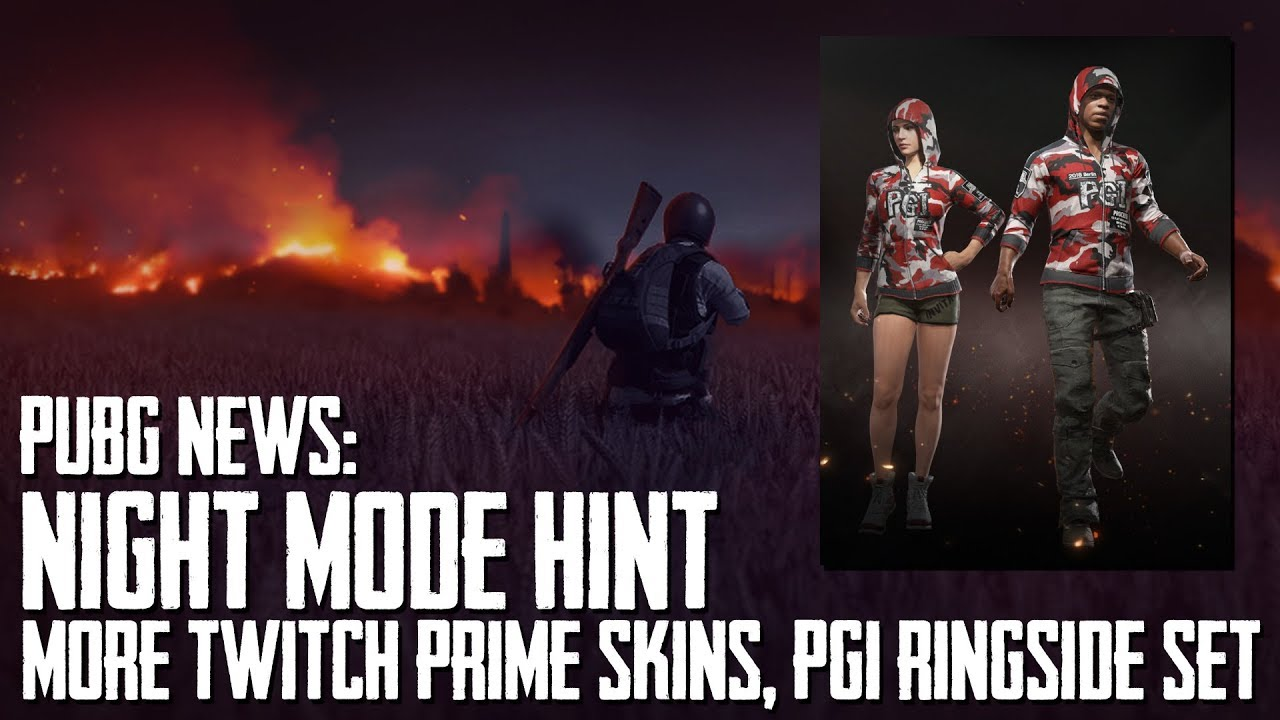 PUBG News | MORE Twitch Prime Skins, Night Mode Hint, PGI Ringside Set Info  & How To Get It