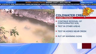 Study says contaminated soil and water from Coldwater Creek could have increased cancer risk