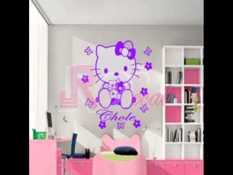 Hello Kitty Wall Stickers YouTube - Hello kitty wall stickers