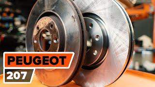 PEUGEOT 207 (WA_, WC_) Scheibenbremsen gelocht auswechseln - Video-Anleitungen