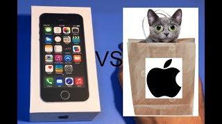 Огляд і розпакування на ''новий'' відновлений iphone 5s. Телефон з сюрпризом всередині!