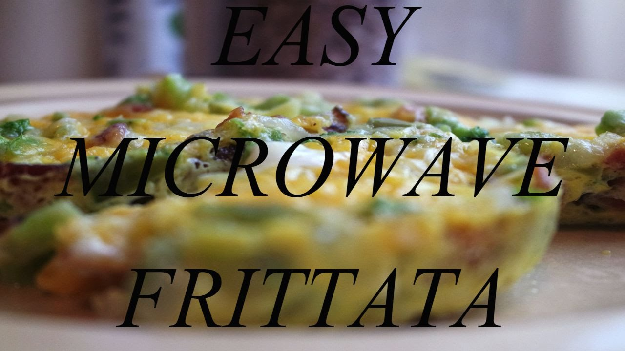 Quick And Easy Microwave Frittata Perfect For The Dorms Youtube