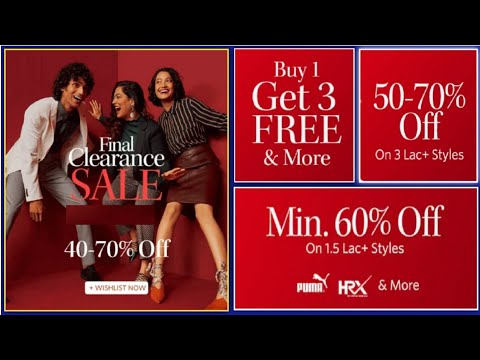 Myntra Offers | Myntra Coupon | Myntra coupon Code | Myntra Final Clearance Sale | Myntra (Expired)
