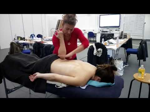 Sports Massage to thoracic area.