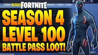 *NEW* Fortnite SEASON 4 Lv 100 Battle Pass Loot - How To Get OMEGA OUTFIT! All Changes In Season 4!