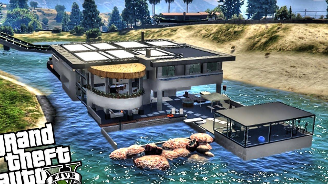 Luxury Lake House with Drawbridge  GTA 5 PC MOD  YouTube