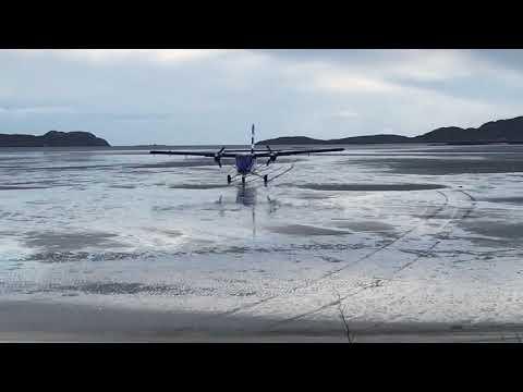 G-HIAL landing at Barra 18/01/2016