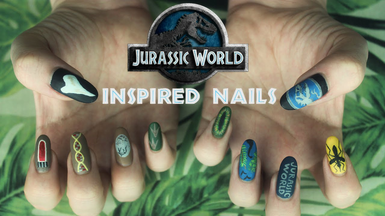 Jurassic World Inspired Nails - YouTube