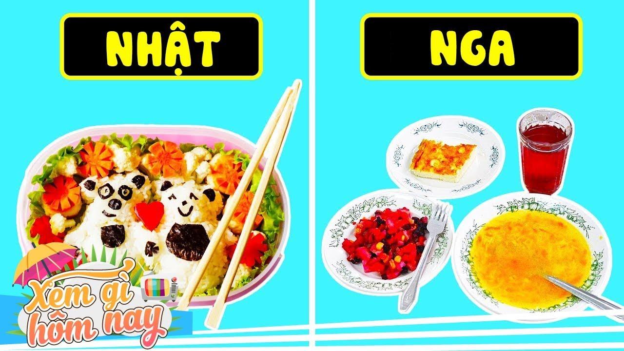 Học Sinh Trên Thế Giới Ăn Gì Trong Bữa Trưa?