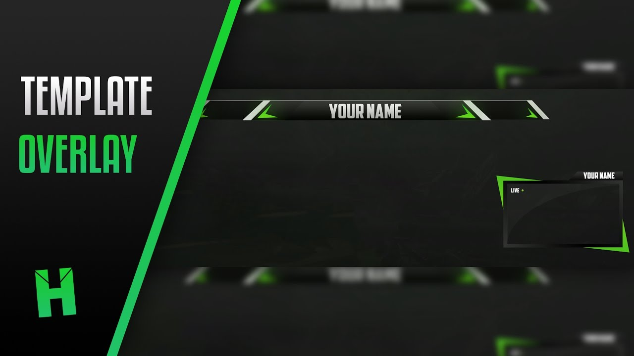 free twitch overlay template 2 by hasherartz youtube