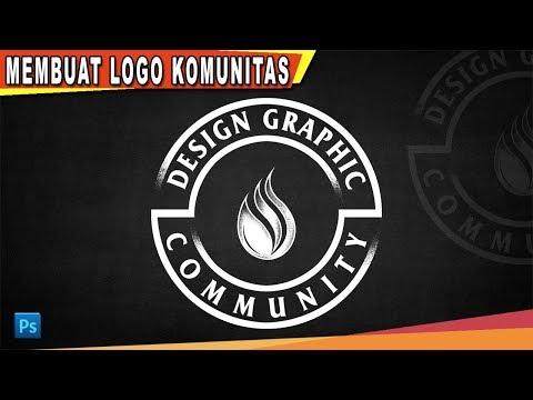 Cara Membuat Desain Logo Komunitas Dengan Photoshop | Photoshop Tutorial