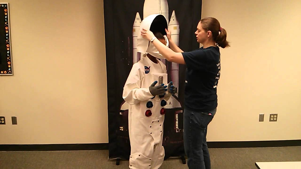 putting on a space suit - photo #22