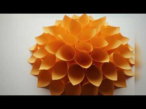 Origami flower : Diy paper dahlia