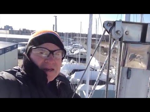 "Sailing ""Thanks Dad"" 25-March-2016 - Installing ladder brackets, stove gimbal and climbing the mast"