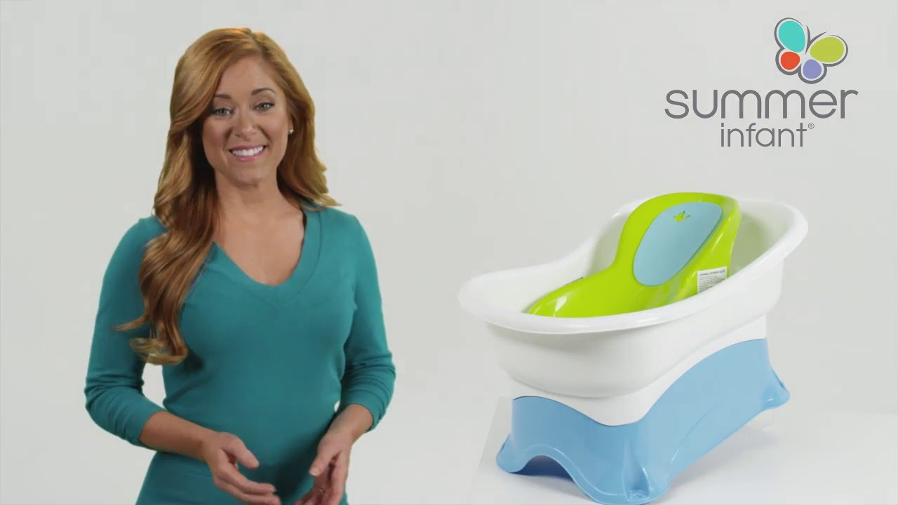 Summer Infant Right Height® Bath Tub Product Video - YouTube