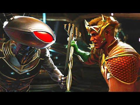 Injustice 2 - Black Manta vs Aquaman All Intros, Clash Quotes And Supermoves