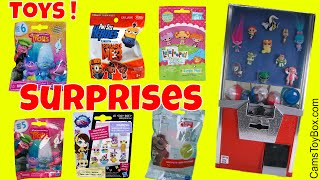 Toy Vending Machine Surprises Blind Bags Opening Trolls Series 5 6 Lalaloopsy Minions LPS
