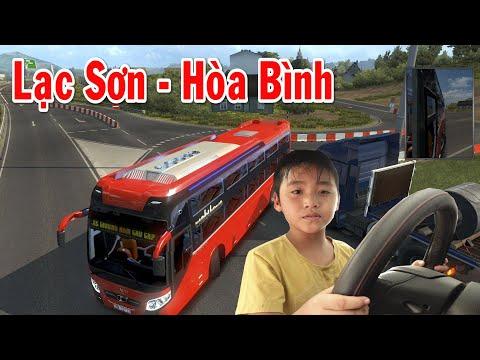 Bé Dương lái xe ETS2 chở Bố đi chơi Hòa Bình