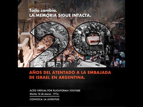Acto De Juventud A 29 Años Del Atentado A La Embajada De Israel En Argentina