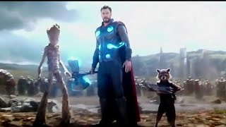 Thor arrives in wakanda with stormbreaker. Full scene.