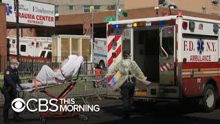 "Scenes of ""catastrophe"" as New York hospitals battle coronavirus"