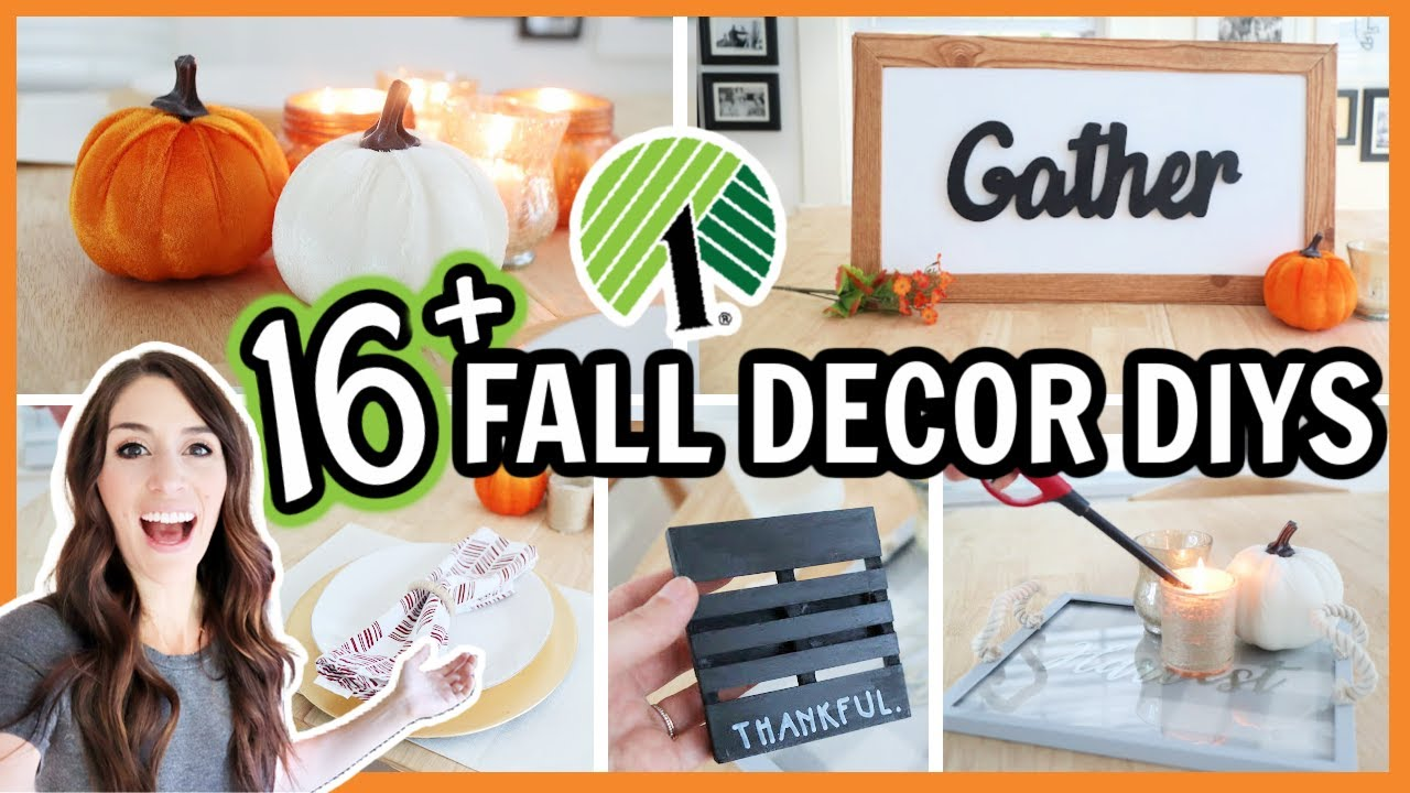 DOLLAR TREE FALL DECOR HACKS 🍂 16+ easy DIYs and ideas!