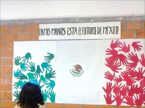 Alumnos elaboran Banderas de México - YouTube
