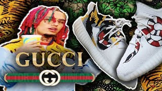 Custom &quot GUCCI GANG &quot YEEZY 350 boost