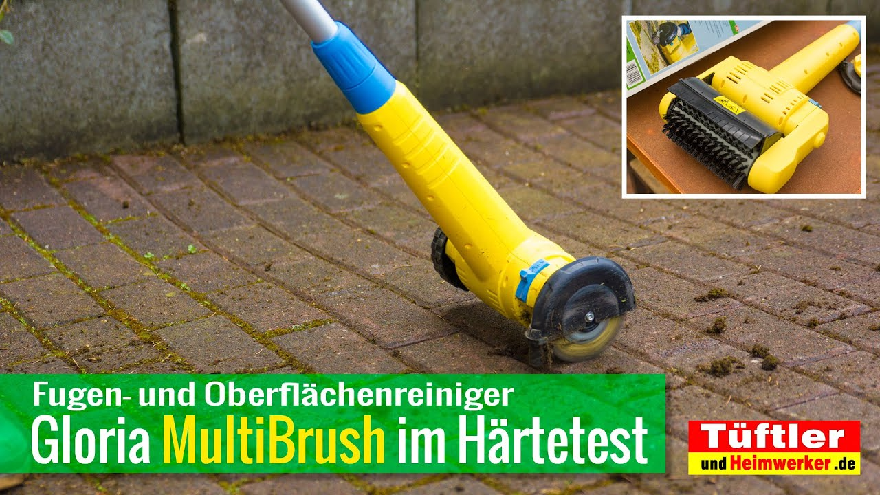 fugenreiniger gloria multibrush im härtetest - youtube