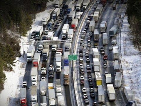Atlanta gridlock: Cars stranded, leaders under fire