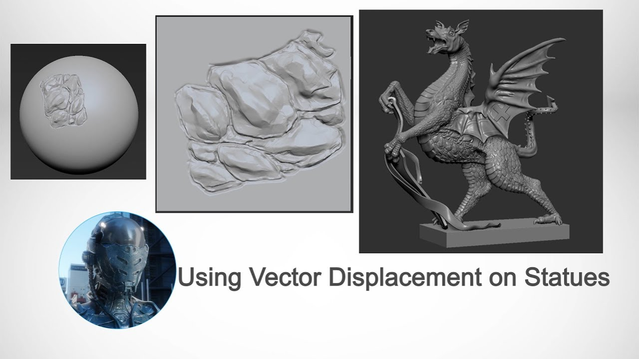Easy Zbrush - Working with Vector Displacement on a Statue