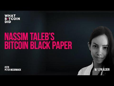 Nassim Taleb's Bitcoin Black Paper With Lyn Alden