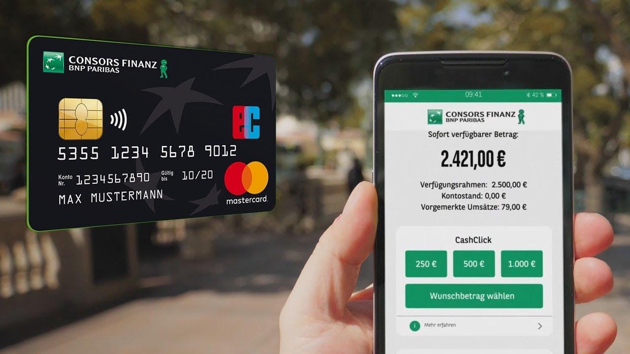 Consors Finanz Cashcard Onlinecard Ihre Moglichkeiten Im Uberblick Youtube