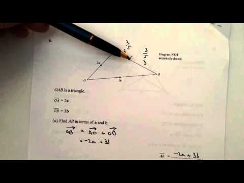 Q6 Maths Vectors - GCSE Mathematics