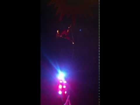 Trapeze artist (lara croft) The sensational circus of the orient in manchester 28/02/2012 gymnastics