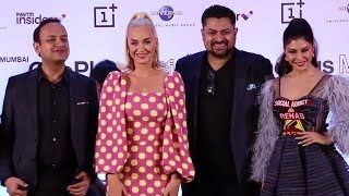 Pop Star Katy Perry And Jacqueline Fernandez At OnePlus Music Festival Press Conference