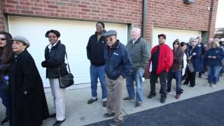 From youtube.com: Voters Lined up to cast their ballots {MID-140135}