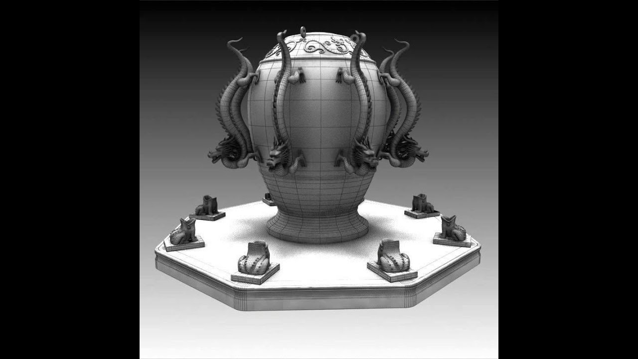 3d Models Zhang Heng Seismoscope China 3d Model From
