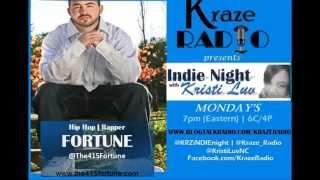 Fortune on Kraze Radio Indie Night