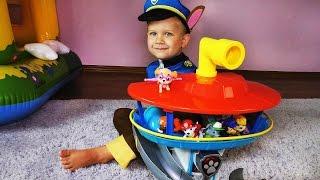 Смотровая Башня Щенячий Патруль Рома играет с новой игрушкой PAW Patrol