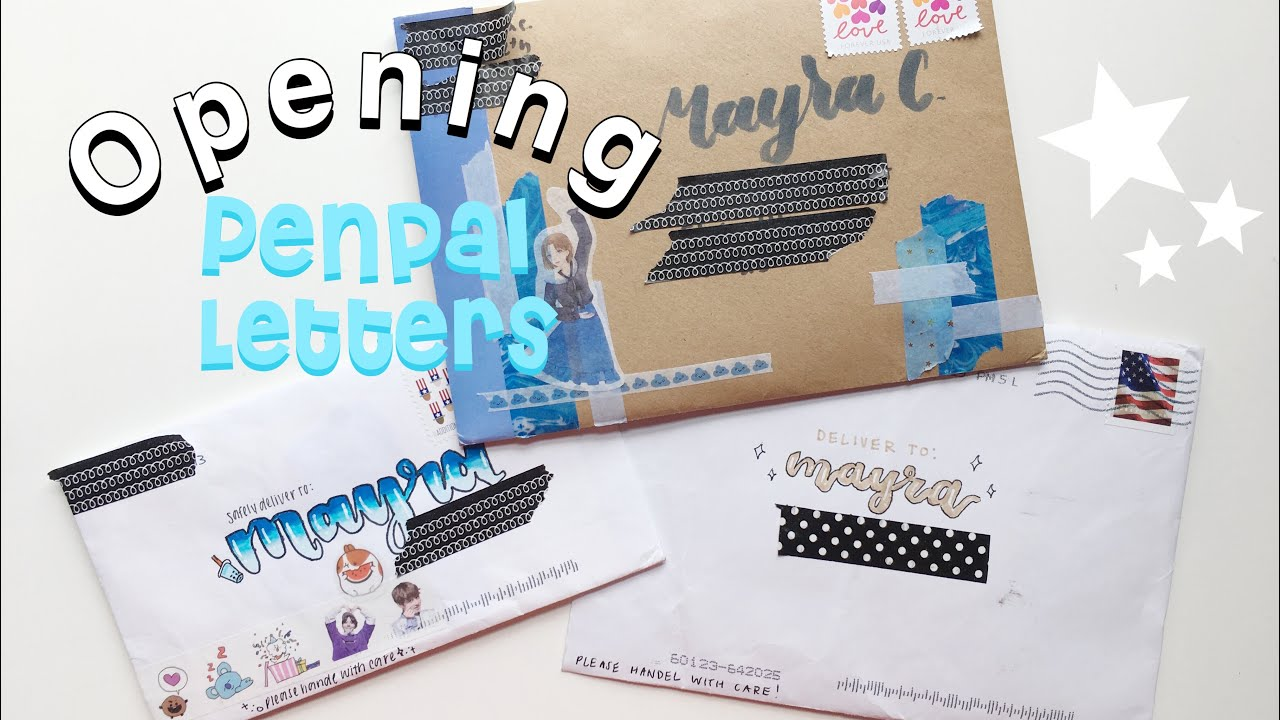 Opening Penpal Letters  1