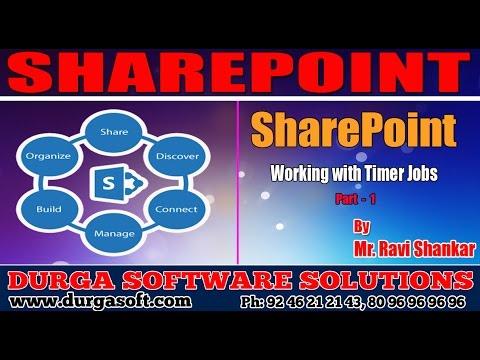 Sharepoint Tutorial||Working with Timer Jobs Part - 1 by RaviShankar