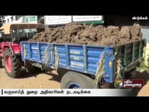 Revenue officials seize tractors involved in illegal sand mining