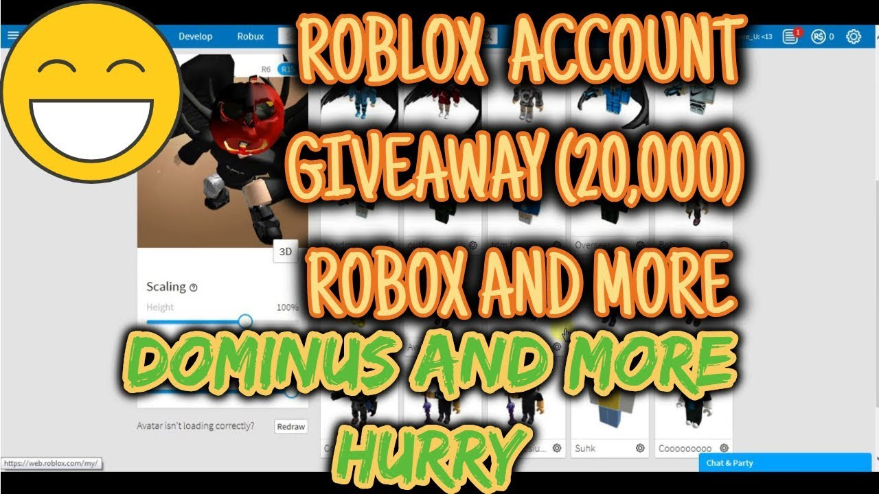 ROBLOX ACCOUNT GIVEAWAY (20,000) ROBUX AND MORE READ DESCRIPTION!!!