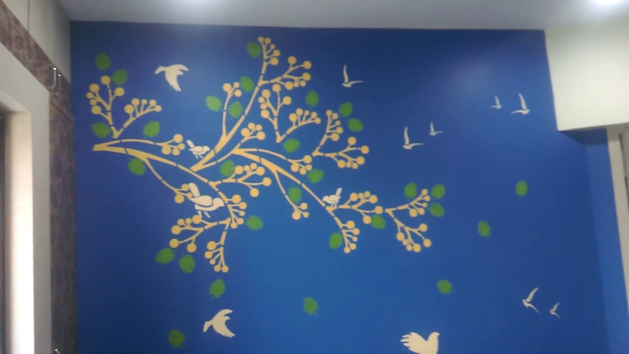 Asian Paints Royale Play Spring Diaries Stencil Wall Design